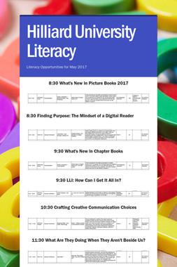 Hilliard University Literacy
