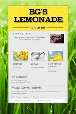 BG's Lemonade