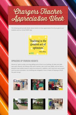 Chargers Teacher Appreciation Week
