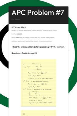APC Problem #7