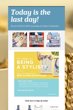Today is the last day!