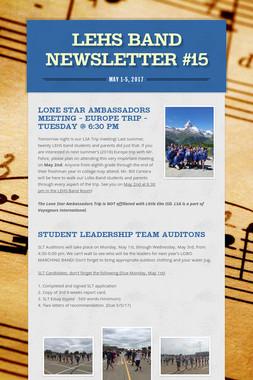 LEHS Band Newsletter #15