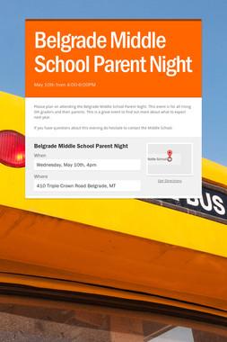 Belgrade Middle School Parent Night