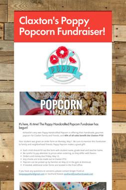 Claxton's Poppy Popcorn Fundraiser!