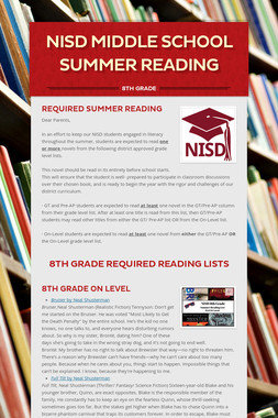 NISD Middle School Summer Reading