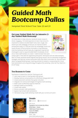 Guided Math Bootcamp Dallas