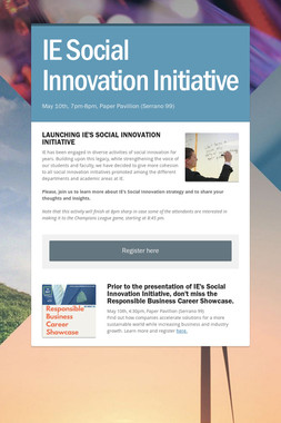 IE Social Innovation Initiative