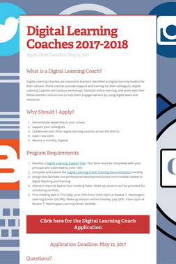 Digital Learning Coaches 2017-2018