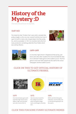 History of the Mystery :D