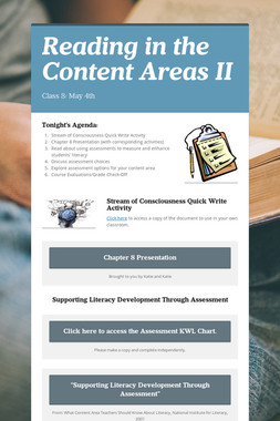 Reading in the Content Areas II