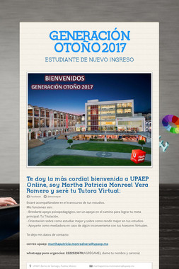 GENERACIÓN OTOÑO2017