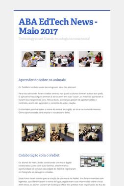 ABA EdTech News - Maio 2017