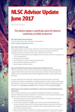NLSC Advisor Update June 2017