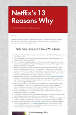 Netflix's 13 Reasons Why