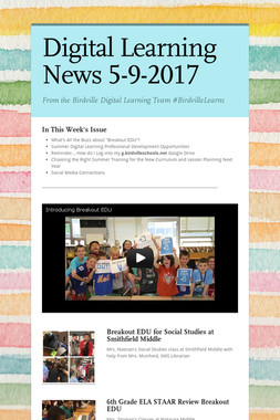 Digital Learning News 5-9-2017