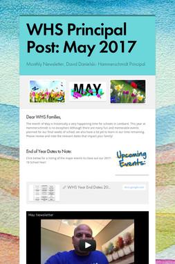 WHS Principal Post: May 2017