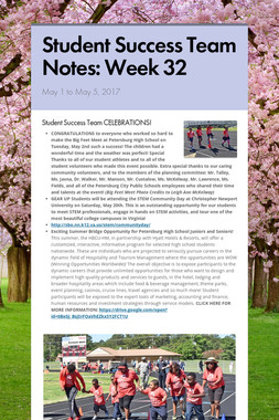 Student Success Team Notes: Week 32