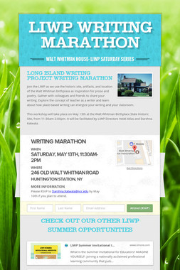 LIWP Writing Marathon