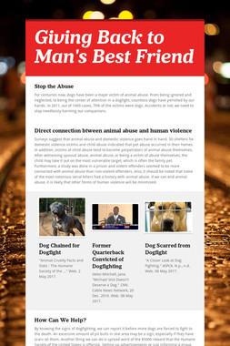 Giving Back to Man's Best Friend