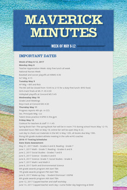 Maverick Minutes