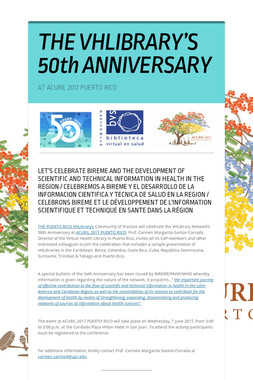 THE VHLIBRARY'S 50th  ANNIVERSARY