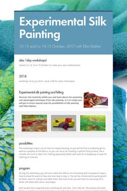 Experimental Silk Painting