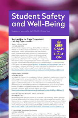 Student Safety and Well-Being