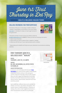 June 1st: First Thursday in Del Ray