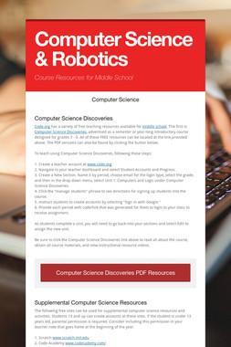 Computer Science & Robotics