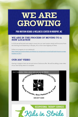 We are Growing Again @
