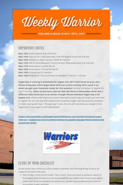 Weekly Warrior