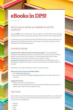 eBooks in DPS!