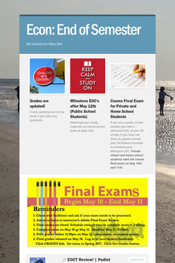 Econ: End of Semester