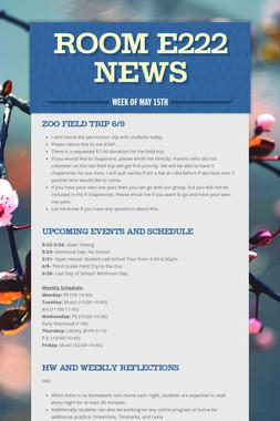 Room E222 News