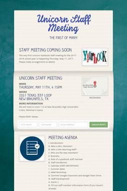 Unicorn Staff Meeting