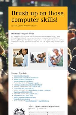 Brush up on those computer skills!