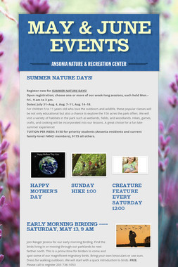 May & June Events