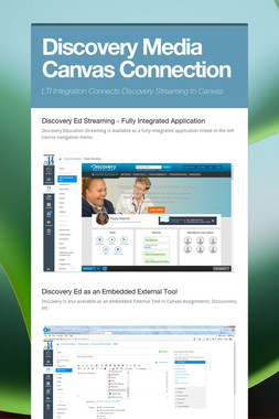Discovery Media Canvas Connection