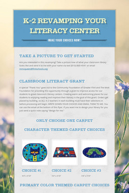K-2 Revamping your Literacy Center