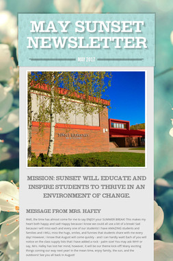 May Sunset Newsletter
