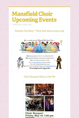 Mansfield Choir Upcoming Events