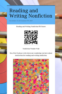 Reading and Writing Nonfiction
