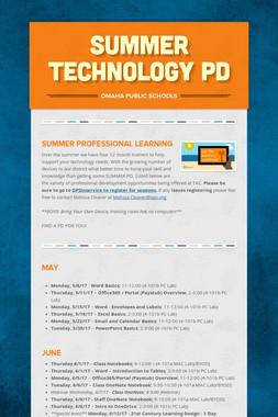 Summer Technology PD