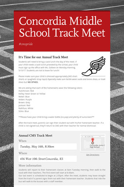 Concordia Middle School Track Meet