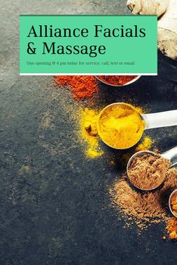Alliance Facials & Massage
