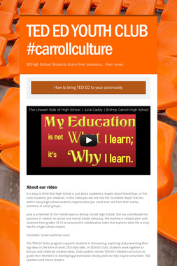 TED ED YOUTH CLUB #carrollculture