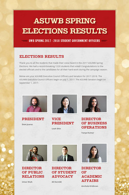 ASUWB Spring Elections Results