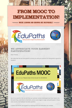 From MOOC to Implementation!