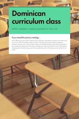 Dominican curriculum class