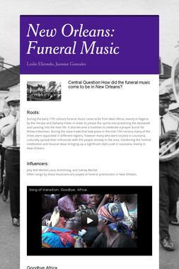 New Orleans: Funeral Music